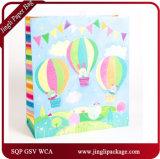 El regalo diario caliente del bebé de Balloom de la lámina para gofrar empaqueta bolsos del regalo del trato especial de las bolsas de papel del regalo