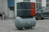 Petit compresseur d'air de vis avec le réservoir d'air pour l'industrie légère