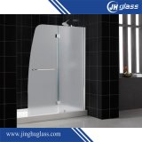 Tempered Glass Large Stainless Steel Wheel Sliding Shower Door