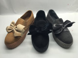 Schuhe der beiläufige Art-Dame-Segeltuch mit Bowknot-Dekoration (6084)
