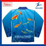 Custom Sublimation Mens vêtements bon marché de la pêche