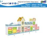 幼稚園の大きい収納キャビネットの木の子供の棚の家具Hc-3305