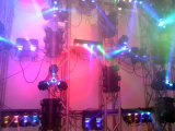Оборудование DJ света диско луча СИД 4 головок