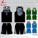 Uniforme fait sur commande de basket-ball de la jeunesse de sublimation du seul type neuf de l'homme de Healong