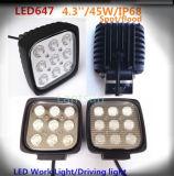 Feu de conduite de voiture carrés 45W CREE LED lumière