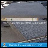 Bush-Hammered G684 черного гранита плитка из природного камня на пол