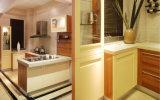Hoge Ritz polijst de Aangepaste Keuken van pvc van de Keuken van het Huis van de Keukenkast (zc-005)