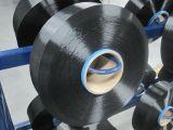 Fios de cor preta de poliéster FDY 75D/36F, SD, Dope Tingidos de cor preta