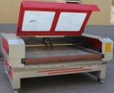 Tissu rouleau Machine de découpe laser avec double chefs