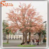 China-Fabrik-direkter künstlicher rosafarbener Kirschbaum für Garten-Dekoration