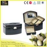 Украшения ювелирных изделий из кожи Custom упаковки для хранения ювелирных изделий в салоне (8006 драйвер)