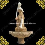 Le granit Fountain/fontaine en marbre pour la décoration de jardin en plein air GS-F-134