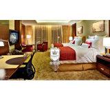 Мебель конструкции двойной кровати гостиницы высокого качества в драпировании ткани