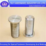 Pièce en aluminium de commande numérique par ordinateur de dispositif de fixation brillant de qualité
