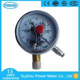 100mm 액체에 의하여 채워지는 진공 크롬 격판덮개 전기 접촉 압력 계기