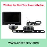 Sistema de câmera de segurança do veículo com segurança traseira de 2,4 GHz com monitor de 4,3 polegadas