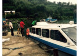 Aqualand 25FT 7.6m 물 택시 오두막 배 또는 섬유유리 나룻배 (760)