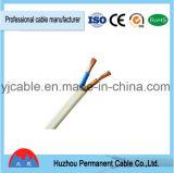 Cable de alambre eléctrico sólido/trenzado de Rvvb del aislante del PVC del conductor