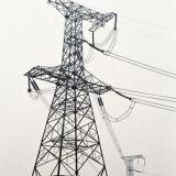 Torre de acero del acero de la transmisión de Customed