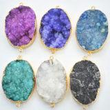 Venta al por mayor Colores Naturaleza Druzy Piedras Joyería colgante