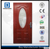 Portello d'acciaio esterno interno di legno di mogano con i disegni facoltativi
