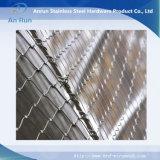 Maglia decorativa della fune metallica dell'acciaio inossidabile di protezione