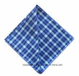 Продукция OEM подгоняла напечатанный логосом выдвиженческий пестрый платок квадрата хлопка рекламы