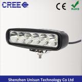 trabalho do diodo emissor de luz de 9-32V 6inch 18W barra clara do mini auto