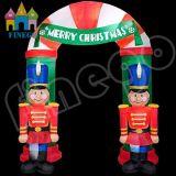 Bekanntmachen Weihnachtsder aufblasbaren Geschenk-Kasten-Bogenreklameanzeige