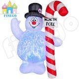 Walmart-aufblasbarer WeihnachtsSchneemann mit Bescheinigungen