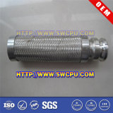 Plooide roestvrij staal Versterkte PTFE Flexibele Slang