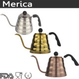 1200ml giet over de Lange Ketel van de Koffie van Spuiten met het Handvat van het Bakeliet