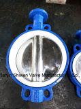 ギヤはすべてのライニングPTFEのAnti-Corrosionウエファーの蝶弁を作動させた