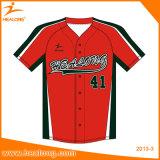 Healong Digital imprimiu o uniforme importado do basebol da fibra óptica da tinta