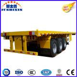 30 pieds de conteneur de camion de découpage à plat de remorque de l'ajustage de précision arrière pour le conteneur