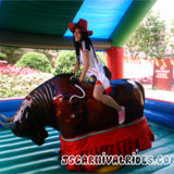 Adulte palpitante manèges Bull Ride Machine simulateur mécanique gonflable bull rider