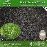 100% натурального черного семян кунжута извлечения (Sesamin 10%-98%, 4: 1~20: 1) (CAS №: 607-80-7)
