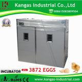 De een gat makende in Incubator van het Ei van de Kip van 3872 Eieren Automatische Kleine