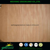 Madera contrachapada ranurada pintada de /Grooved de la madera contrachapada del alto grado para la decoración