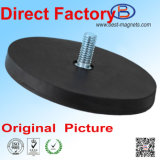 Direct Factory of Permanent NdFeB Caoutchouc Revêtu / Revêtement / Couvercle Magnet Pot / Gripper