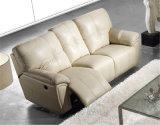 Beige Farben-Lederrecliner-Sofa-Möbel