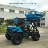 De Tractor van de Lader van de landbouw 18 PK 2 Ton van Usded in het Landbouwbedrijf van de Palmolie