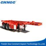 トラックTrailer 40FT Skeleton Container Semi Trailer Sale