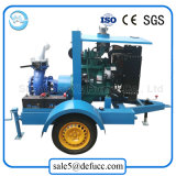 De aanhangwagen Opgezette Pomp van het Water van de Drainage van de Dieselmotor van het Water Koelere