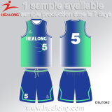 2017年のバスケットボールのジャージのHealongの完全な昇華湿気Wickingのバスケットボールのユニフォーム