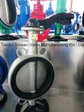O SUS304, 316 Válvula Borboleta Wafer de Aço Inoxidável