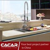 Glasse Klavier-Schwefeln-Lack-Lack-Küche-Schrank mit Insel (CA14-04)