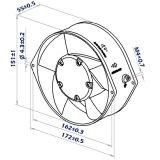 axialer Ventilator des 172mmx151mmx55mm glasverstärkter Thermo PlastikDC17255