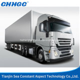 Gray Color Euro 3을%s 가진 상한 Saic Genlyon 6X4 Left Hand Drive 380HP Container Tractor Truck