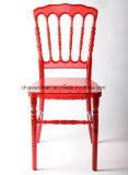 明確で赤いポリカーボネートの樹脂のナポレオンの結婚式の椅子
